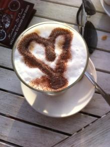 coffee, heart, latte macchiato
